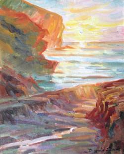 Trebarwith Sunset