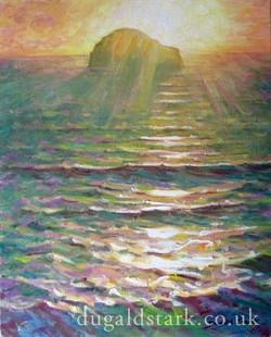 Gull Rock, Trebarwith, Sunset