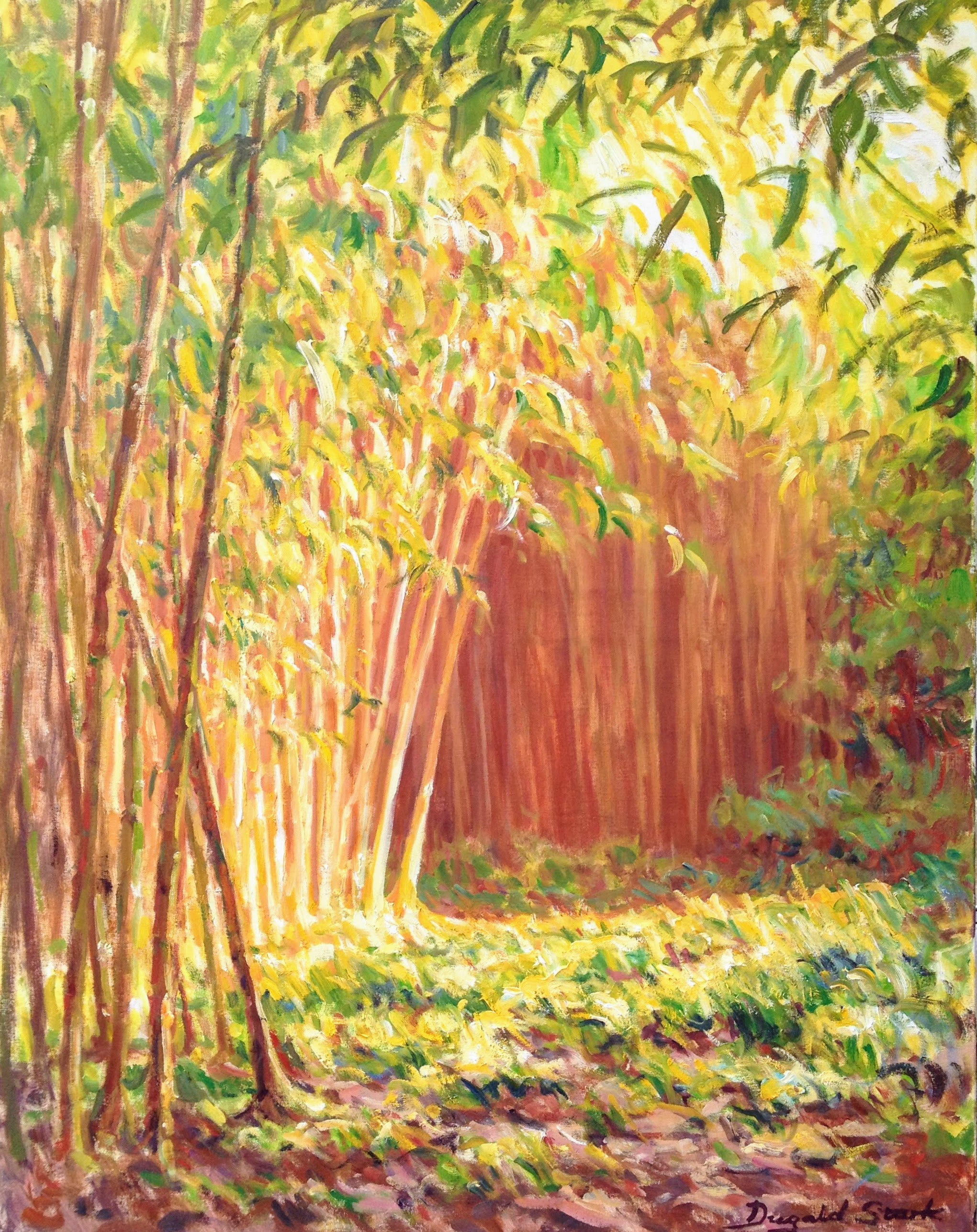 Sun in the Bamboo Grove