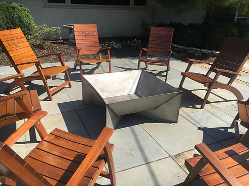 Square Flared Fire Pit