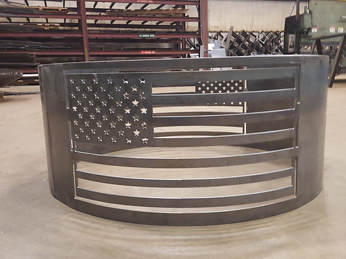 American Flag Fire Ring