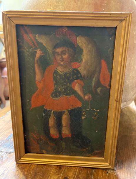 19th Century Mexican Framed Retablo