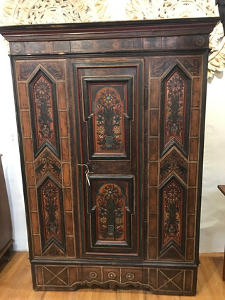 Scandinavian Painted Armoire Dates 1748