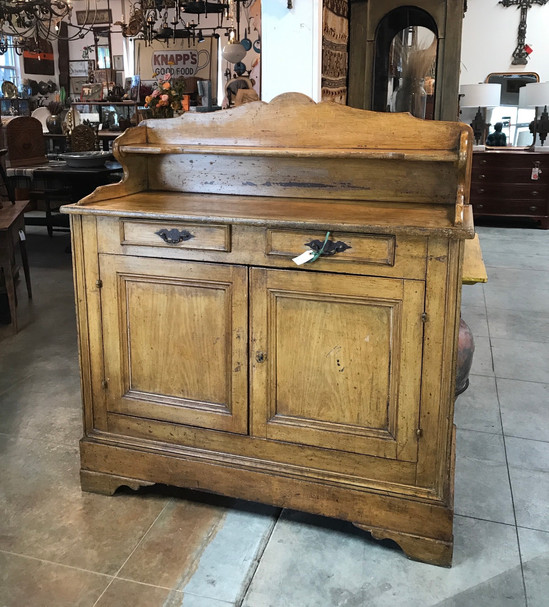 19th C French Grain Painted Cabinet