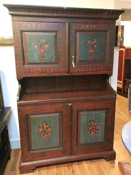 Scandinavian Step Back Cupboard Original Paint