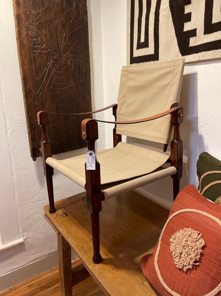 Side View of Campaign Chair