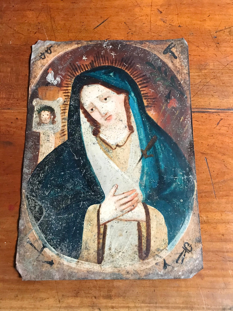19th Century Mexican Painting of Virgin