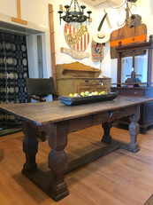 18th Century Stretcher Base Table from Belgium