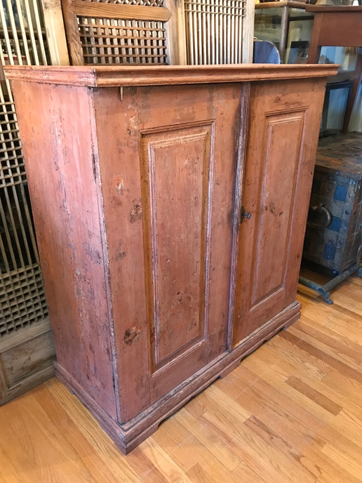 Mid 19th Century Swedish Cabinet with Origianl Paint