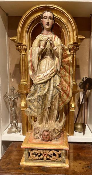 Spanish Virgin dating early 1800's
