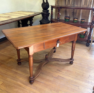 19th Century French X Base Stretcher Table