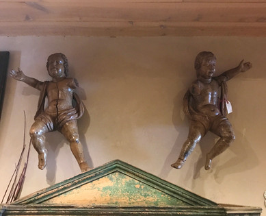 Unpainted  18th Century Italian Cherubs
