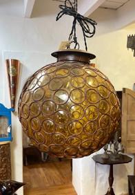 Vintage Mexican Glass Globe Light