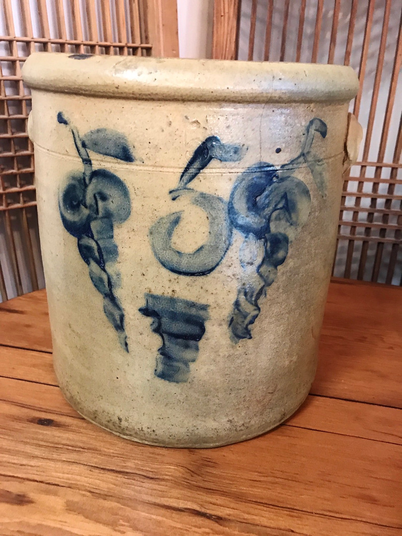 Early American Stoneware Crock
