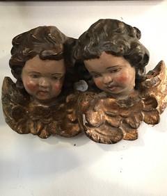 18th Century French  Cherub Heads