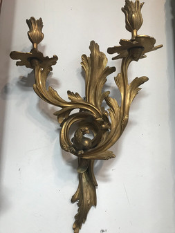 Pair of French Bronze Sconces