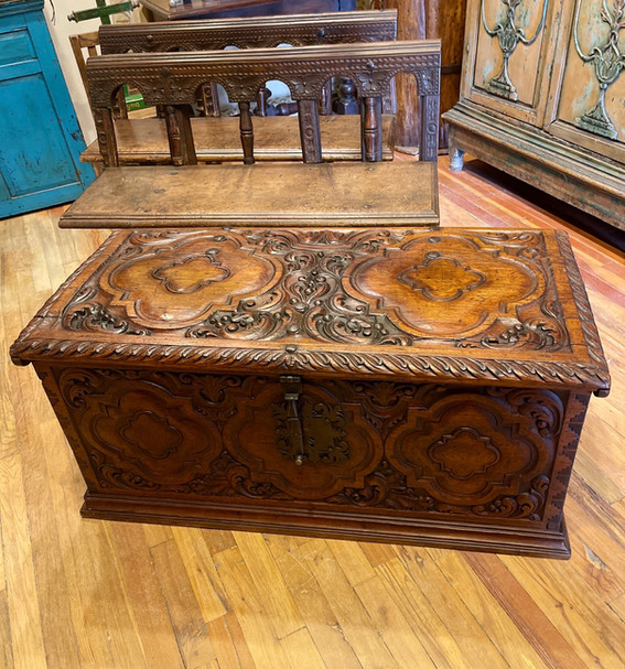 18th Century Spanish Carved Trunk
