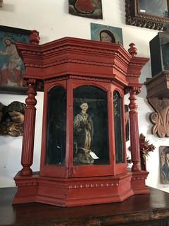Vintage Guatemalan Saint Case from Antigua