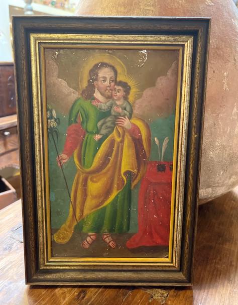19th Century Framed Mexican Retablo