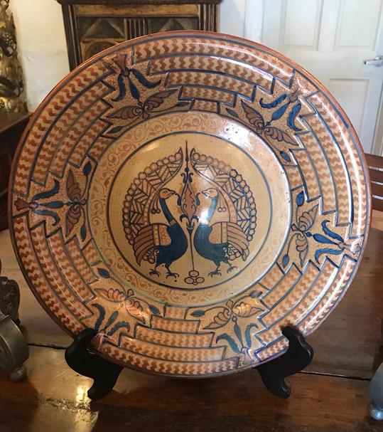 19th Century Spanish Plate Copper Lusterware