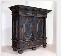 Large Danish Cupboard Dates 1800
