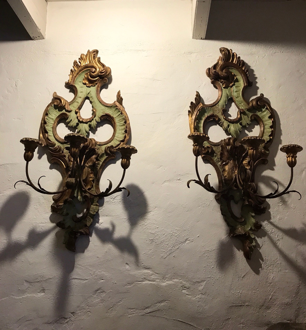 Pair of 19th Century Rococo Sconces