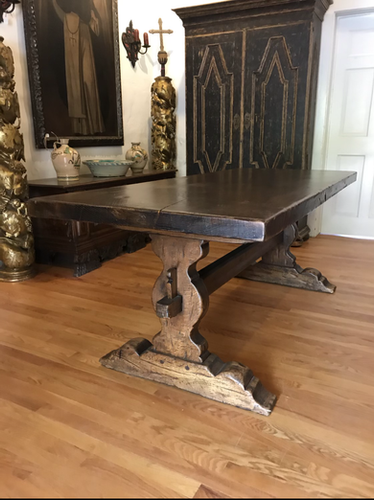 19th Century French Trestle Table