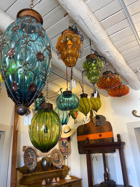 Variety of Mexican Glass Lights