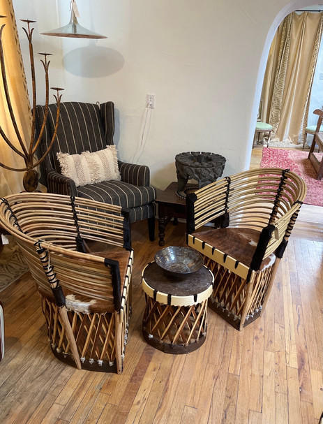 Artisan Made Hide and Wood Equipales Chairs