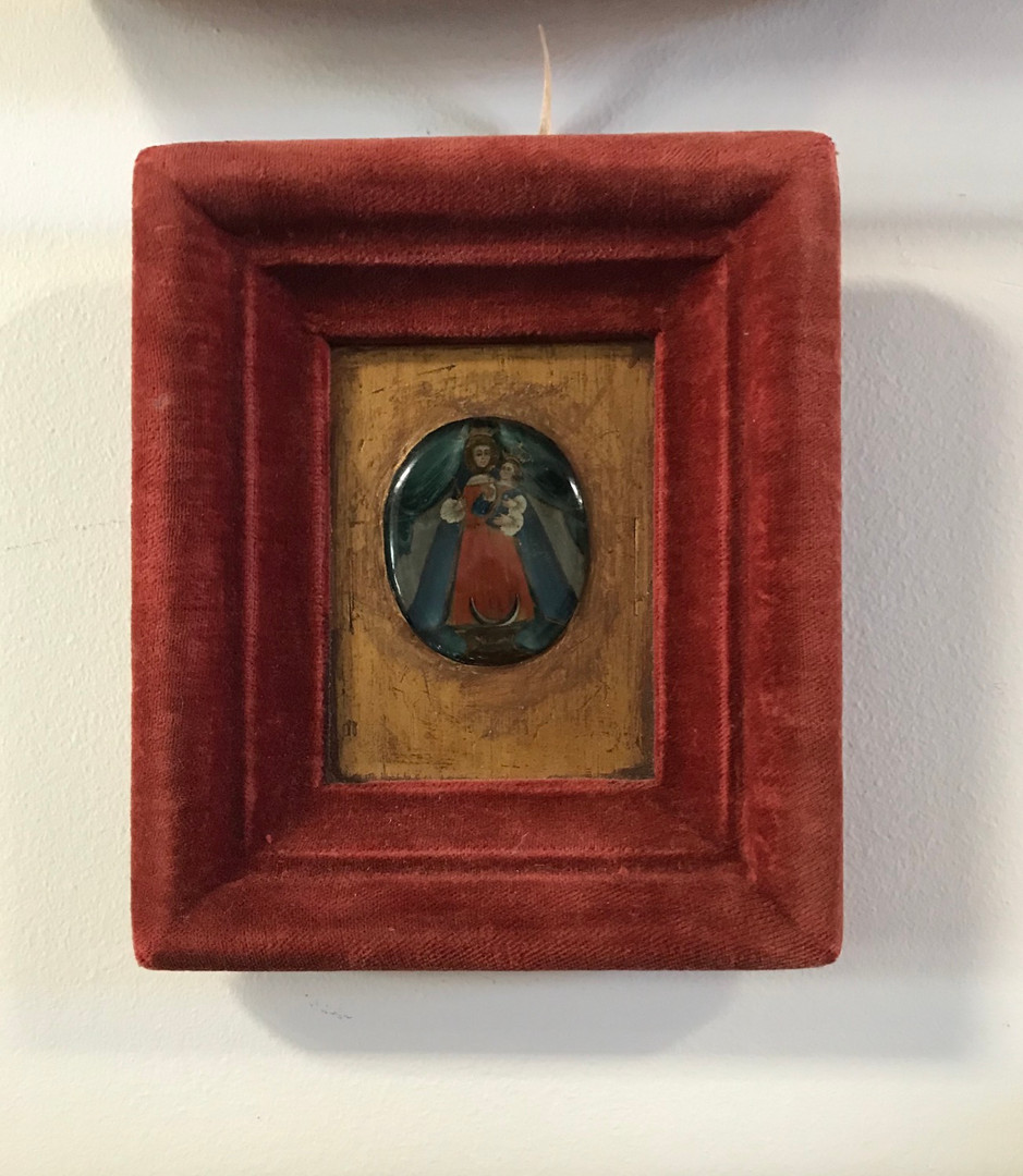 19th Century Miniature Painting of Guadalupe