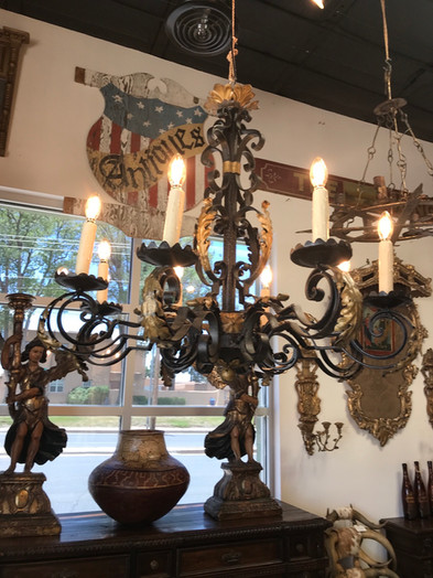 Spanish Hand Forged Iron Chandelier