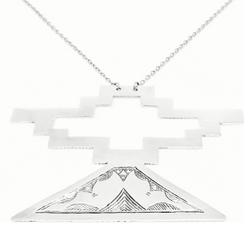 III. BLACK GENESIS NECKLACE│STERLING SILVER