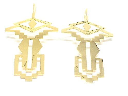 I. THE EYE OF KAHENA EARRINGS│18 KT GOLD PLATE