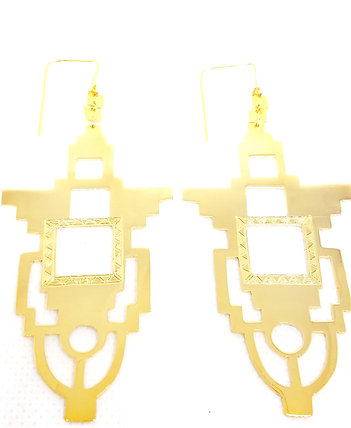 I. THE TEMPLE EARRINGS │18 KT GOLD PLATE