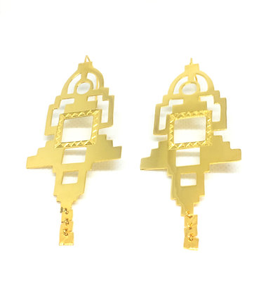 II. THE TEMPLE EARRINGS │ 18KT GOLD PLATE