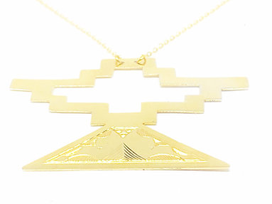 III. BLACK GENESIS NECKLACE│18 KT GOLD PLATE