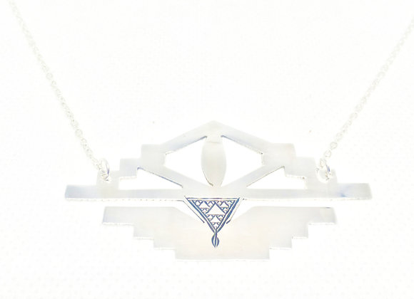 II. EYE OF THE PRIEST-ESS NECKLACE STERLING SILVER