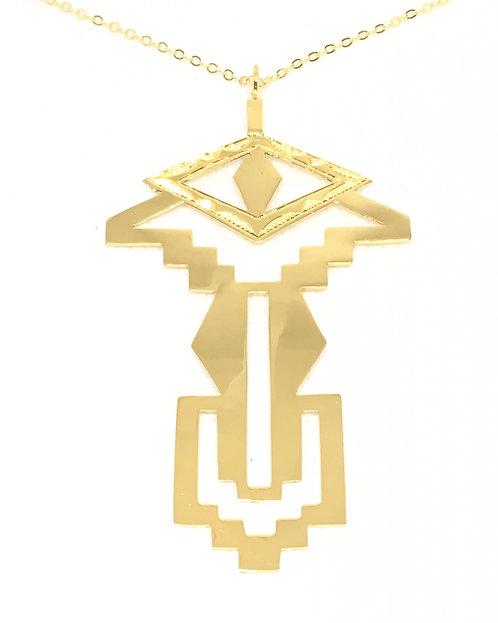 I. EYE OF KAHENA NECKLACE │18 KT GOLD PLATE