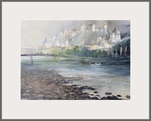 Original Aquarell  100 x 80 cm