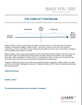 The Conflict Continuum Handout Screensho