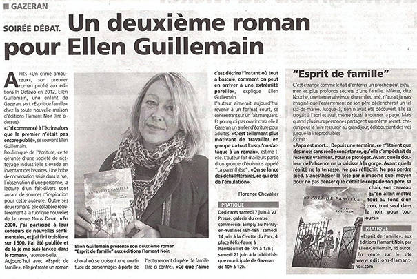 DEUXIEME ROMAN ELLEN GUILLEMAIN