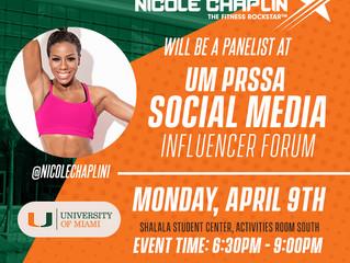Univ of Miami - Social Media Influencer!