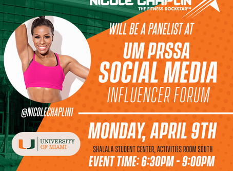 Univ of Miami - Social Media Influencer!