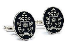 gemelli in argento con stemma araldico.j