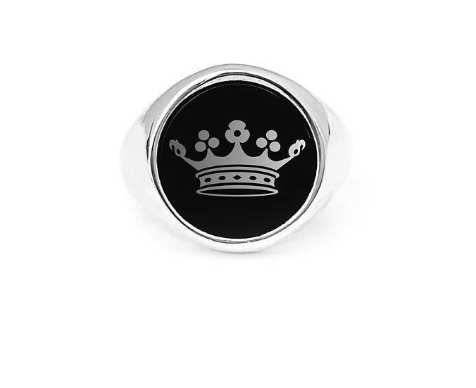 "Anello "" ONIX Crown """