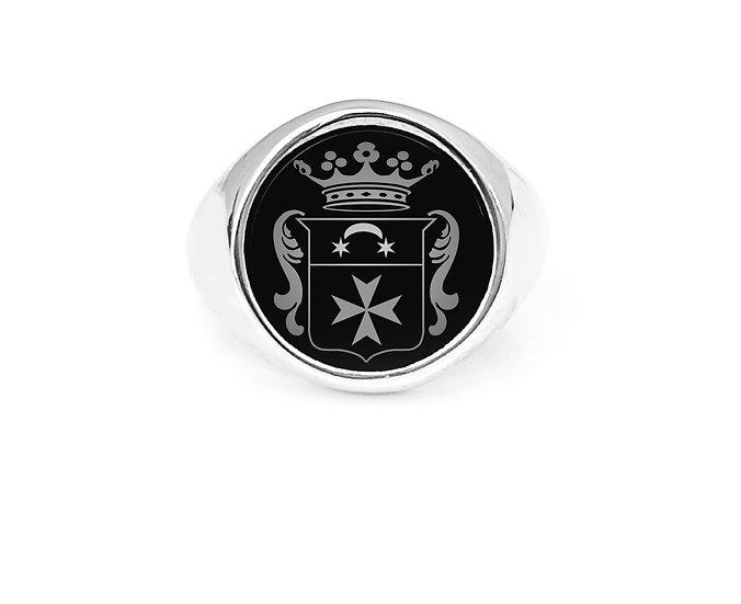 "Anello "" ONIX  Signet Ring  """