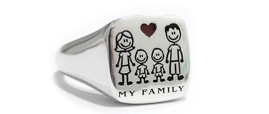 Kit anello Family Quadrato Regolabile  Cod. KAQF