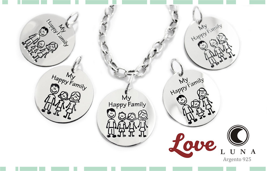 Bracciale Family in argento 925