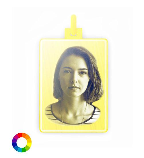 Medaglia Foto Color  Oro Giallo