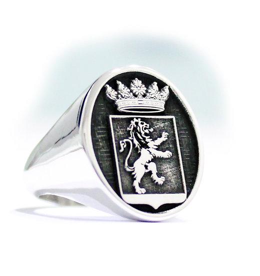 Anello Sigillo stemma di famiglia in Rilievo